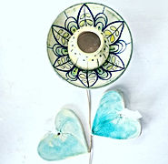 Floral collection of pottery by Michelle