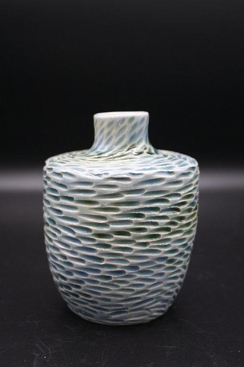 Swirling shoal bud vase