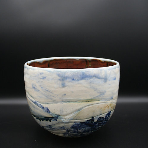 West Penwith abstract landscape pot