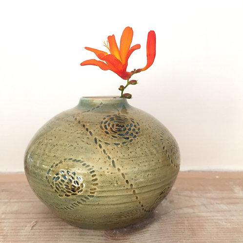 Carved Fern Pot