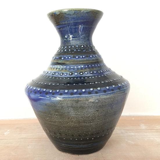Blue dotted vase