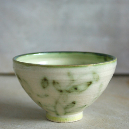Leaf patterned small bowl