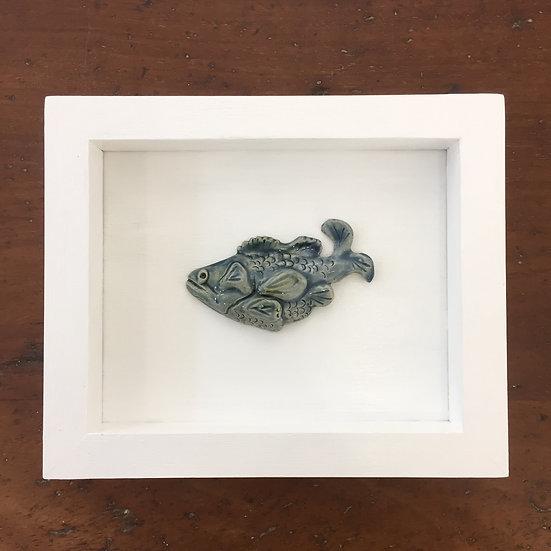 Framed ceramic fish