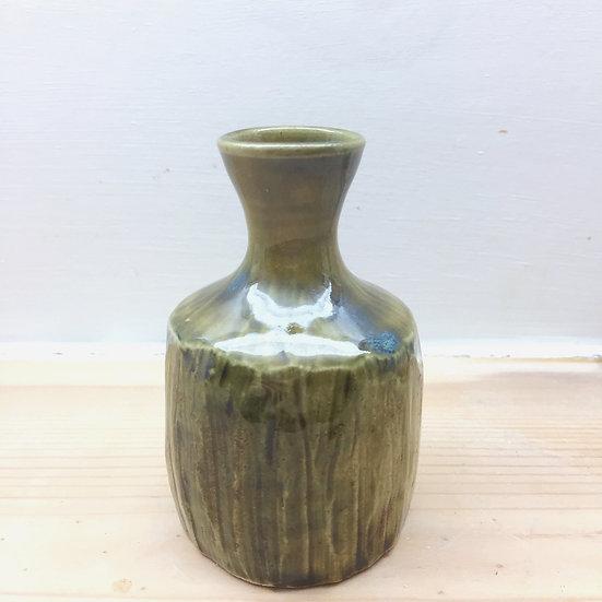 Faceted stem vase