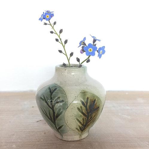 Small leaf bud vase