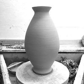 Large thrown pottery vase