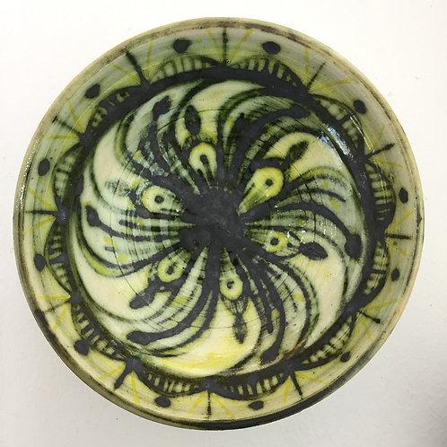 Green floral bowl