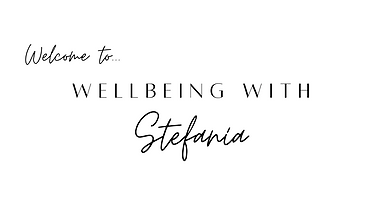 Welcome to Wellbeing with Stefania banne