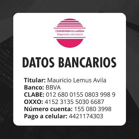 Datos bancarios