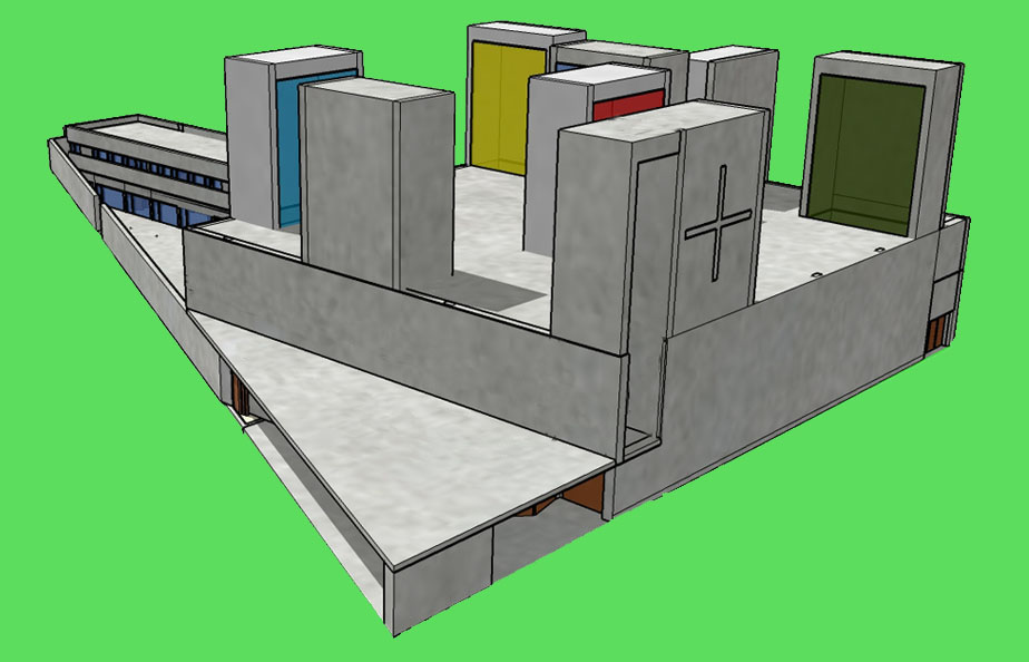 3D de la Iglesia del Buen Pastor