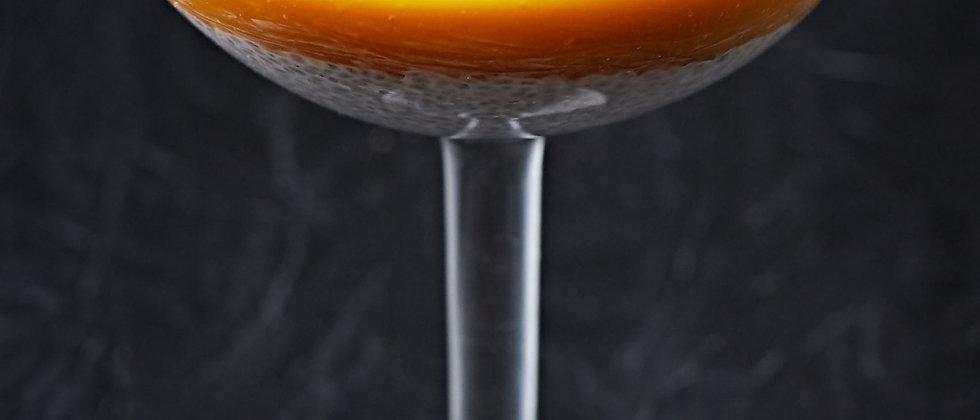 Манговый десерт с семенами чиа