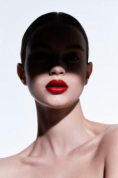 Red smack lips by Benjamin Becker