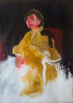 The vanishing General, acrylic on canvas, 110x140cm, 2015