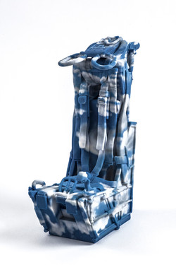 Blue and White, Ceramic 3D print, 2017 15x7x6cm