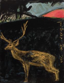 Land of the deer in Um ek Chiran, acrylic on canvas,60x80 cm,2015