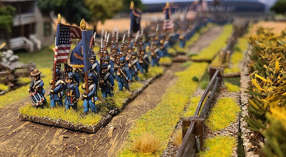Union Civil War Soldiers Marching