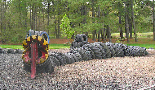 Photo by Sleigh - Great example of recycled tires