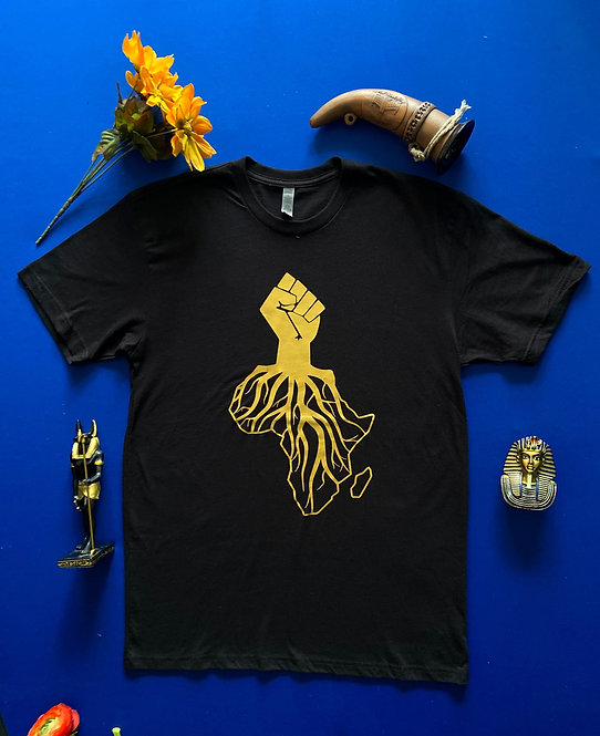 Motherland Roots (Black and Gold)