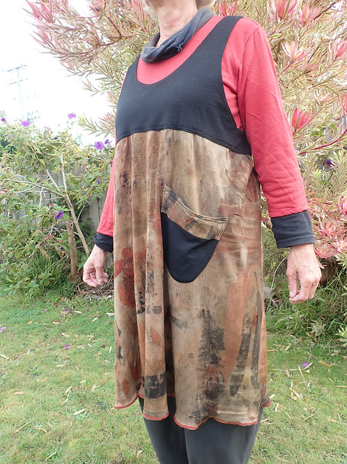 wool dress eco dyed