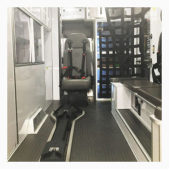 Interior of detailed emergency vehicle.