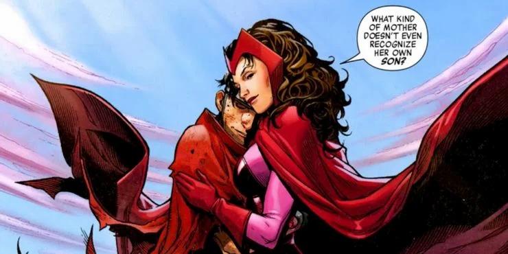"""Traducción: """"¿Qué clase de madre no reconocería a su propio hijo?"""" En esta escena Wanda es capaz de reconocer la reencarnación de su hijo Billy """"Wiccan""""."""