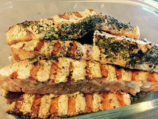 BBQ'D OR OVEN BAKED SALMON WITH SPICES