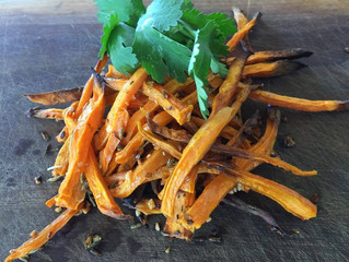 SWEET POTATO SHOE STRING FRIES