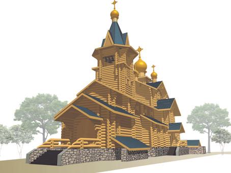 Закладка первого камня в основание будущего храма Центрального военного округа