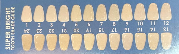 Tooth Shade Guide Card