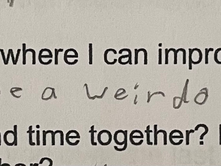 My kids gave me a Mid Year Review