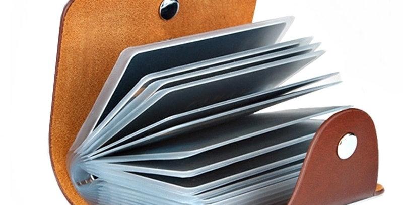 New Leather Function 24 Bits Card Case Business Card Holder Men