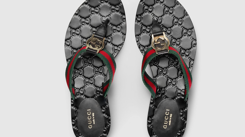 GG thong Web sandal