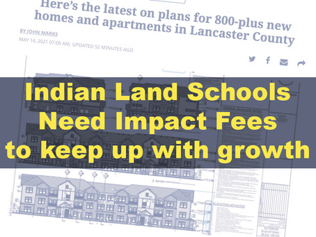 Indian Land needs impact fees for schools now