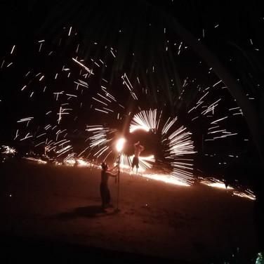 Festive Fire Dancers