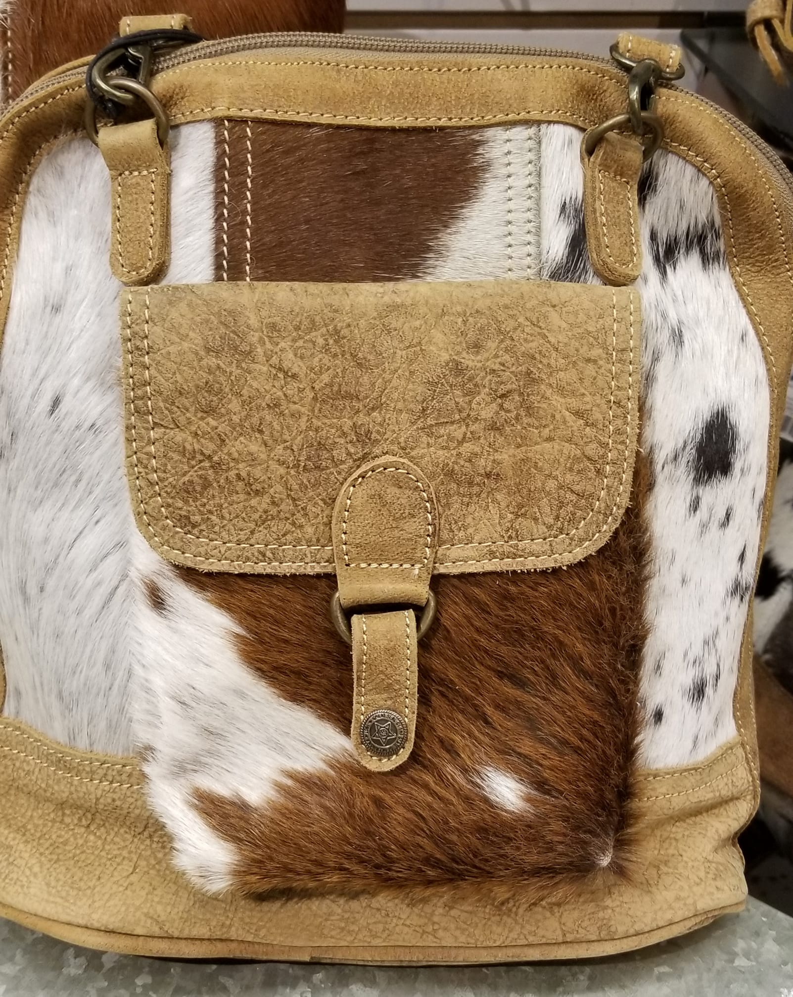 SimplyBlooming_cowhide bag