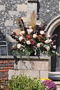 wedding entrance arrangement