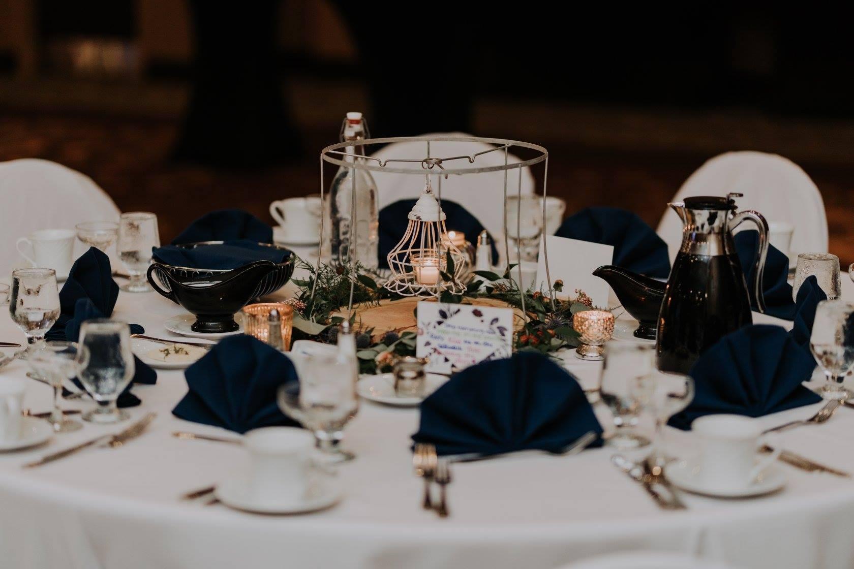 wedding table tea lights