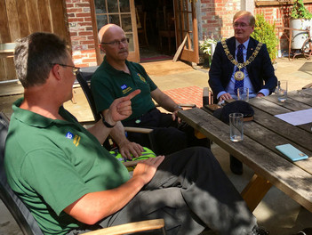 The Mayor of Winchester thanks BW Community Responders for their help during Covid-19