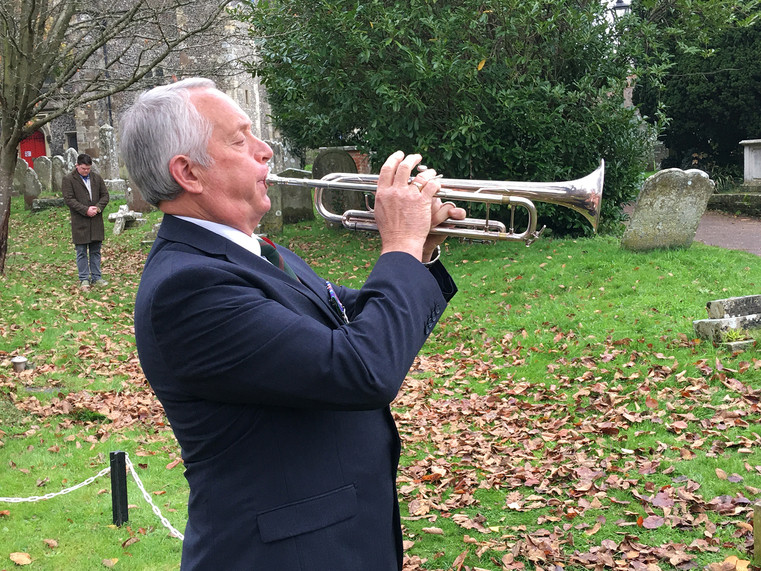 Remembrance Sunday 3 - Chris Stones plays the Last Post.
