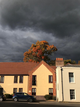 Stormy autumn sunshine