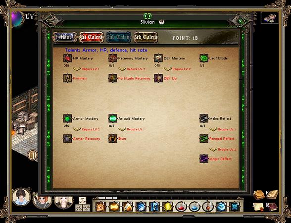Singaria skill system