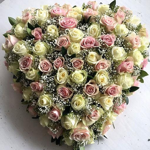 Hart met rozen