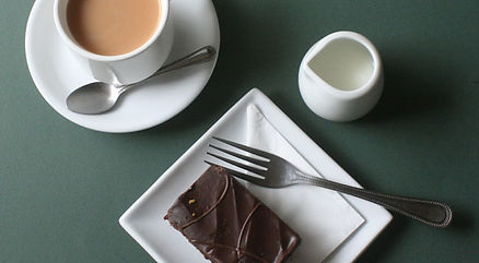 Tea and brownie