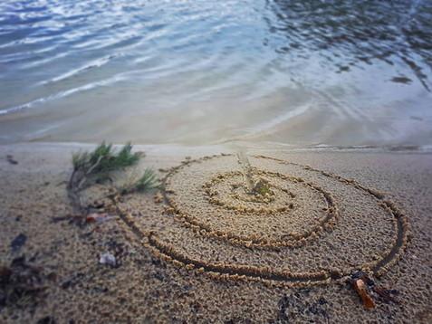 Spiralen aan de oever...