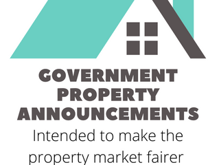 GOVERNMENT PROPERTY ANNOUNCEMENTS