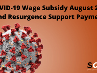 COVID-19 Wage Subsidy August 2021 and Resurgence Support payment