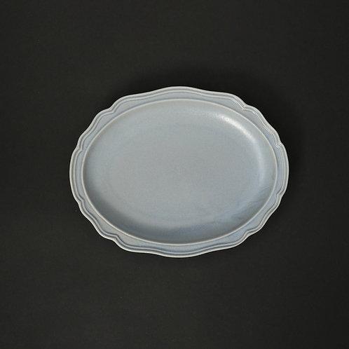 フレア チャコール リム皿 美濃焼 おしゃれ 食器 取り皿 小【saraieオリジナル】
