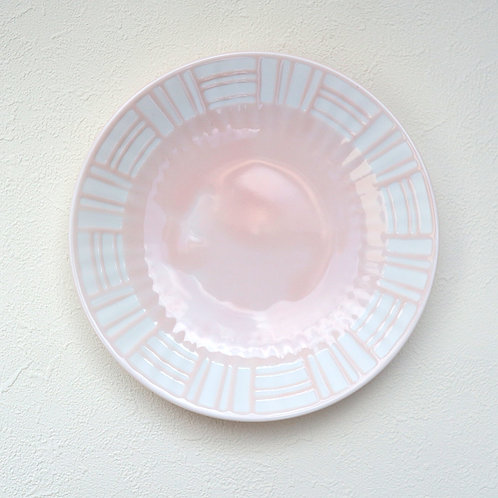 美濃焼 パステラ ソーサー 取り皿 ケーキ皿 パステルカラー ピンク【はさみの大吉オリジナル】