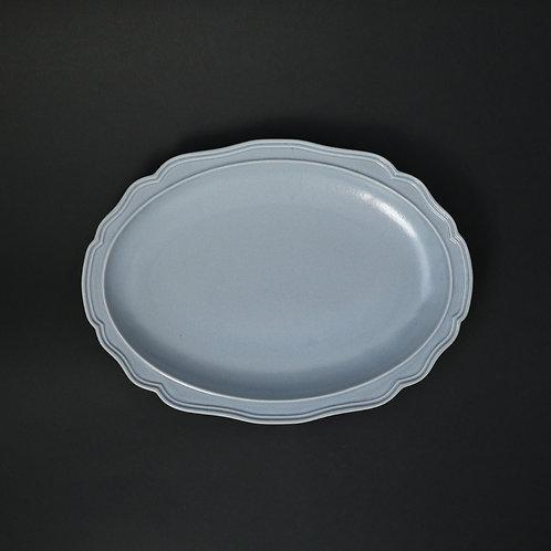 フレア チャコール リム皿 美濃焼 おしゃれ 食器 ワンプレート 美濃焼【saraieオリジナル】
