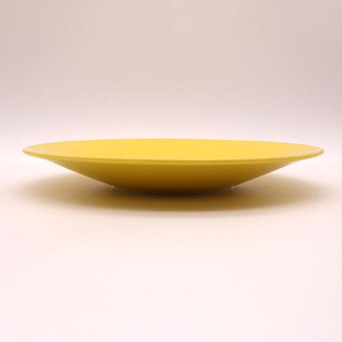 美濃焼 カラーシリーズ 大皿 イエロー 22cm【はさみの大吉オリジナル】